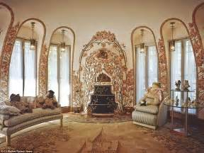trumps gold room inside the very flashy mar a lago resort where trump is