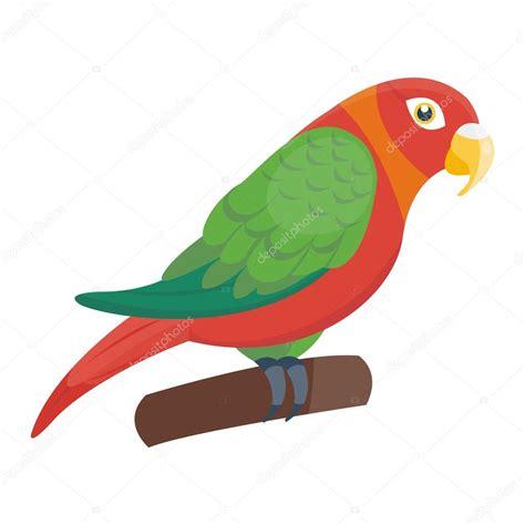 imagenes animales con plumas loro de dibujos animados vector ave vector de stock