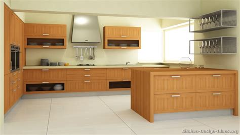 pictures of kitchens modern light wood kitchen