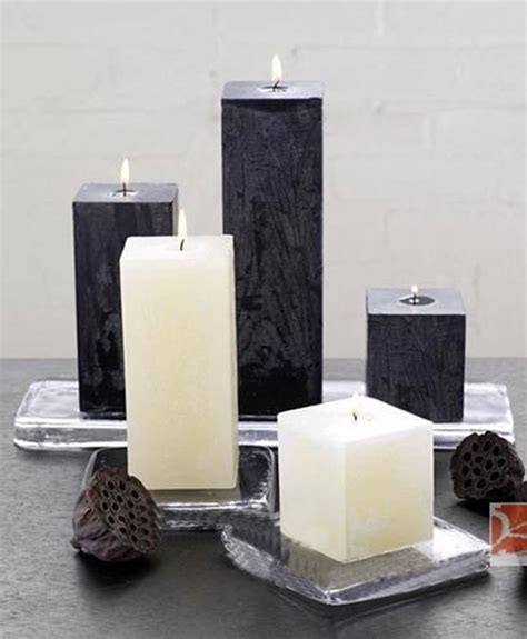 home decor candles ᗛ5pcs pack square block ᗐ flower flower scented candles