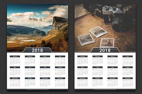50 World Best Newest Printable 2018 Calendar Templates Dribbble Graphics Wall Calendar 2018 Template