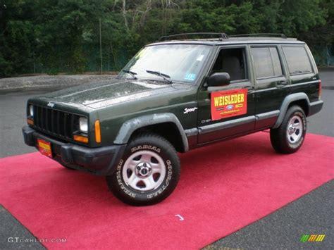 1998 moss green pearl jeep sport 4x4 51425210 gtcarlot car color galleries