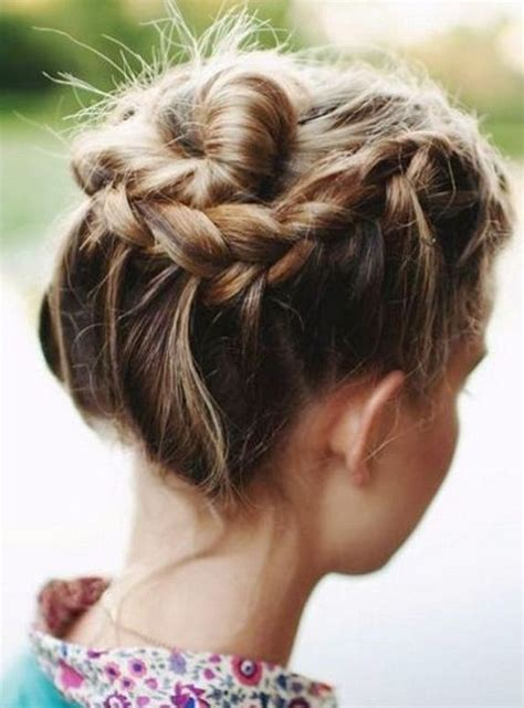 hair updo pictures with braids pretty prom hairstyles for medium hair with braids new