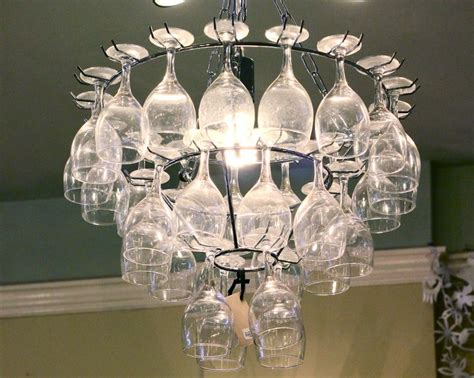 How To Make A Wine Glass Chandelier Wine Glass Rack Chandelier For The Home