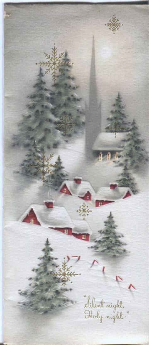 images of vintage christmas scenes vintage christmas card snowy village scene christmas