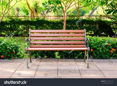 bench in the park wooden bench in the city park stock photo 515471614