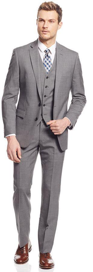 light gray vested suit light grey suit slim fit dress yy