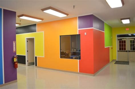 church daycare decorating ideas with primary colors