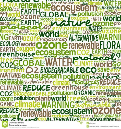 pattern of the words go green words seamless pattern royalty free stock photo