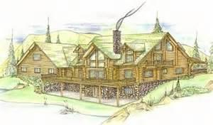Floor Plan Financing For Car Dealers plan 039 00024 6 bedroom 4 5 bath log home plan