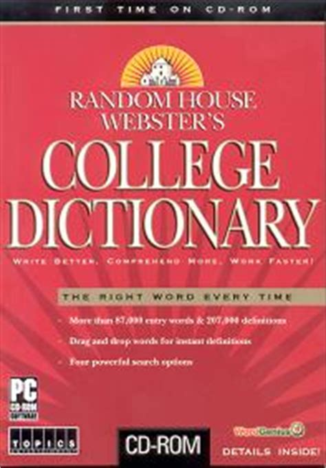 random house dictionary random house webster s college dictionary cd only