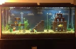 fish tank decor retrofied mario lego aquarium decorations