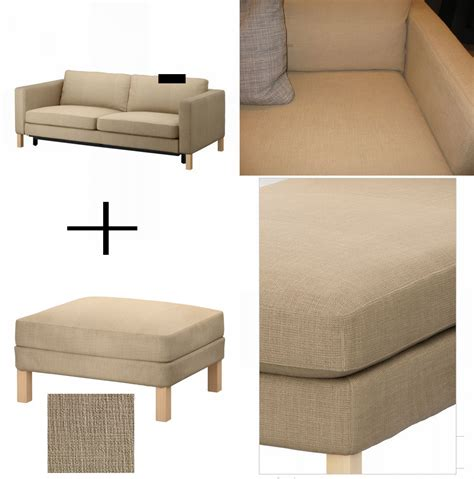 karlstad sofa bed slipcover ikea karlstad sofa bed and footstool slipcover sofabed ottoman cover lindo beige lind 246