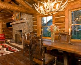 Log Cabin Home Interiors by Beautiful Log Cabin Dining Rooms