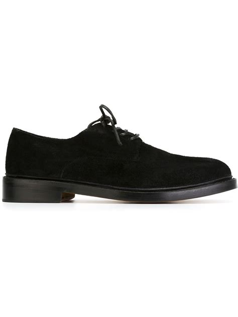 ymc shoes ymc suede derby shoes in black for lyst