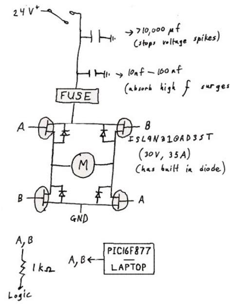 mosfet pwm capacitor help regarding h bridges