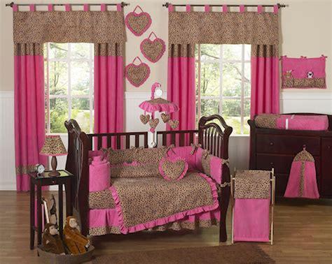 Cheetah Print Crib Bedding Set Pink Brown Cheetah Print Baby Bedding 9pc Nursery Crib Set Collection