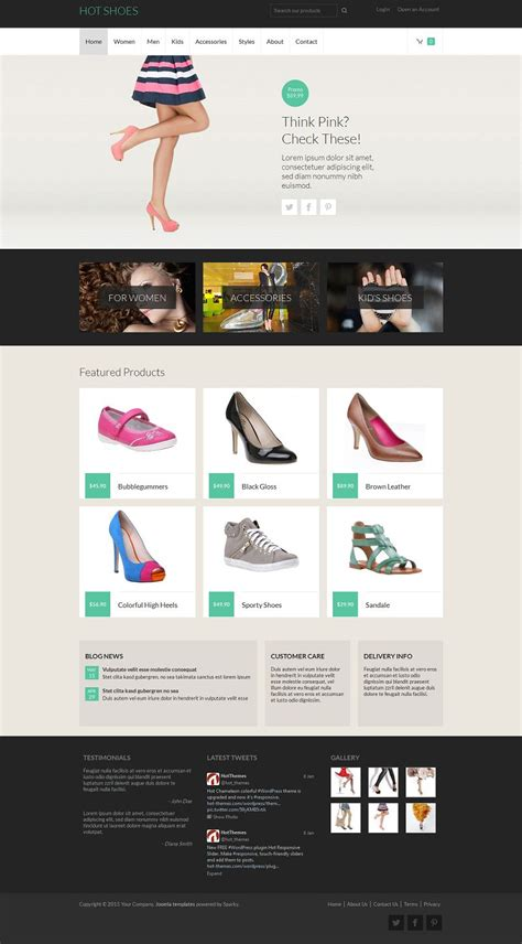 hot shoes responsive joomla virtuemart ecommerce template