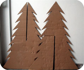 how to make a cardboard christmas tree hoe maak je een k