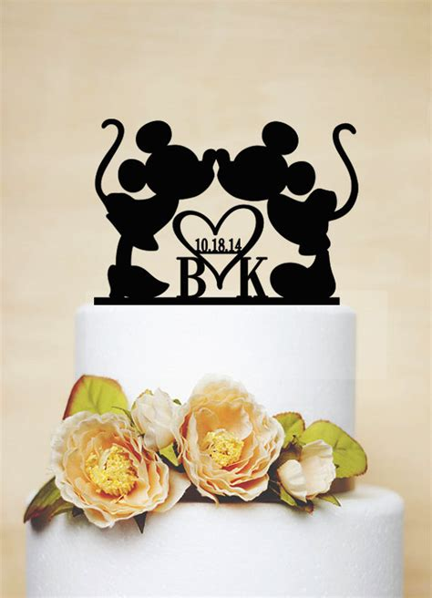 Handmade Cake Toppers Uk - custom wedding cake toppermickey minnie cake topper with