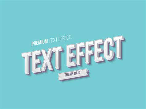 Design Font Psd | isometric text style effect psd theme raid