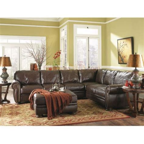 sectional living room sets 20500 sec lr set ashley furniture palmer walnut sectional