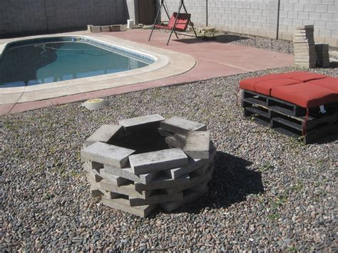 How To Build A Firepit With Pavers The Home Owner S How To Build A Pit From Paver Stones