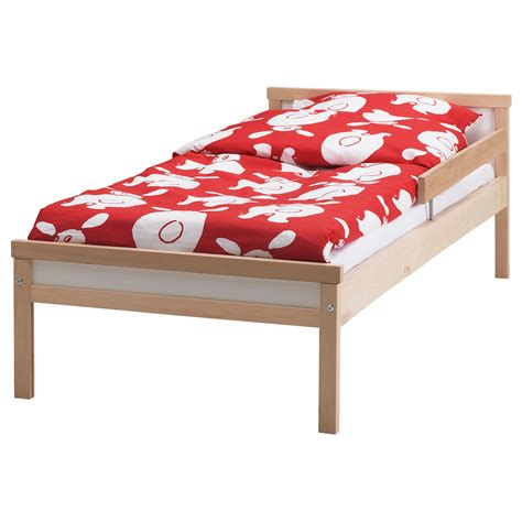 childrens bed sniglar bed frame with slatted bed base beech 70x160 cm ikea