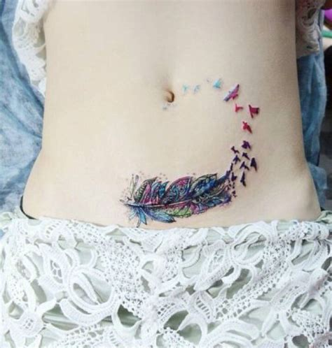 elephant tattoo on lower stomach 30 awesome stomach tattoos for girls designlint