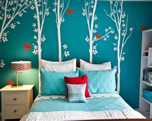 Peel And Stick Wall Murals Cheap 10 beautiful turquoise bedroom designs