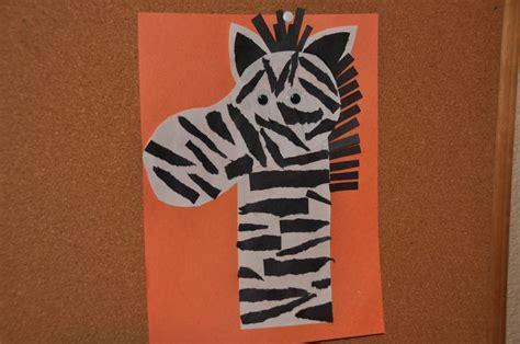 zebra crafts for zebra craft class