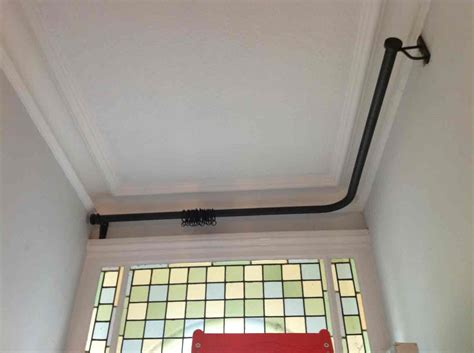 Front Door Curtain Rail 1000 Ideas About Door Curtain Pole On Curtain Poles Door Curtains And Bay Window Pole