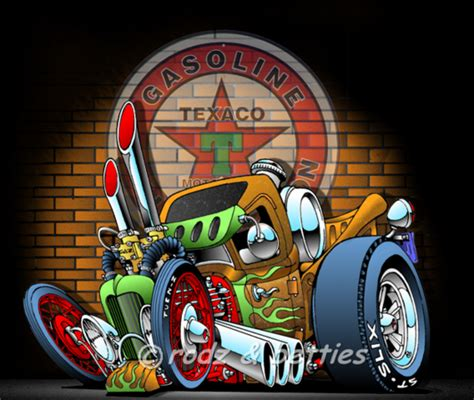 rat rods cartoons hubgarage com ratrod texaco photos