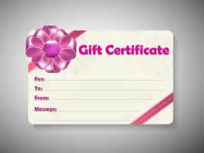 Gift Certificate Template by Free Gift Certificate Template Customizable