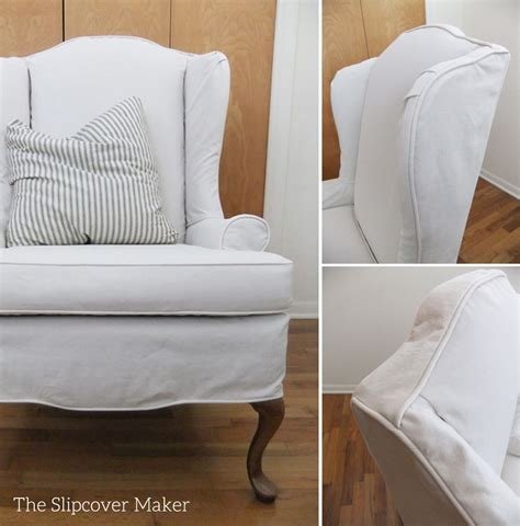 slipcovered wingback chair armchair slipcovers the slipcover maker