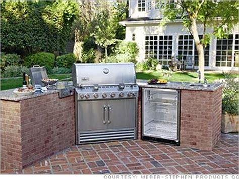 weber grill outdoor kitchen 5 killer outdoor kitchens weber grill 4 cnnmoney