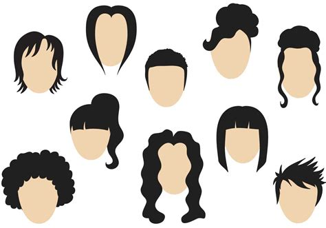 graphics design haircuts free hairstyle vectors download free vector art stock