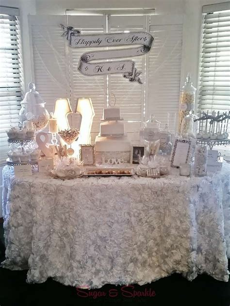 Glam Engagement Party Ideas   Dessert tables on Catch My