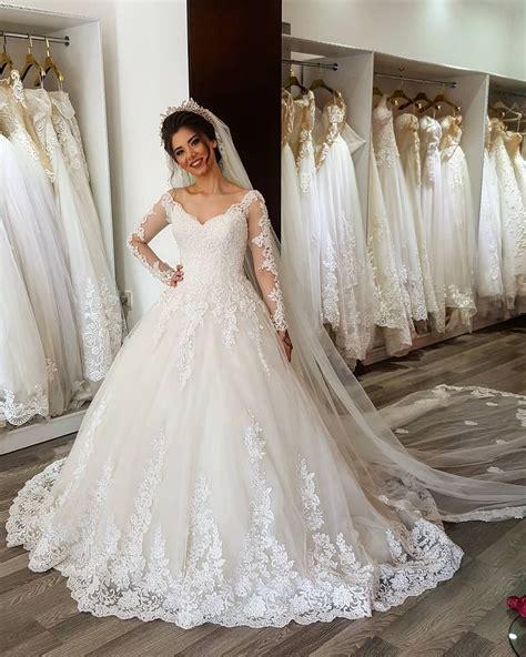 arabic bridal gowns arabic long sleeves wedding dress 2017 new design bridal