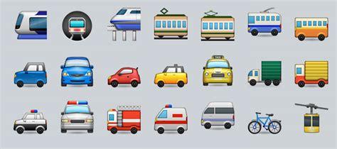 transportation emojis  objective analysis streetsmn