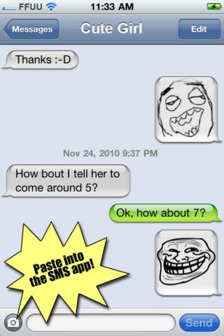 Text Faces Meme - rage faces for sms on the app store