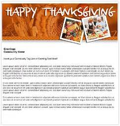 Happy Thanksgiving Email Templates by Email Template Of The Week Community Association Tech