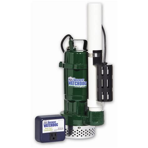 sump pumps shop basement watchdog 0 5 hp cast iron cast aluminum submersible sump at lowes
