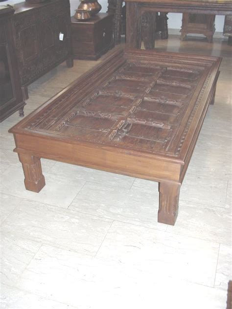 Dining Table Old Door Into Dining Table Indian Door Coffee Table