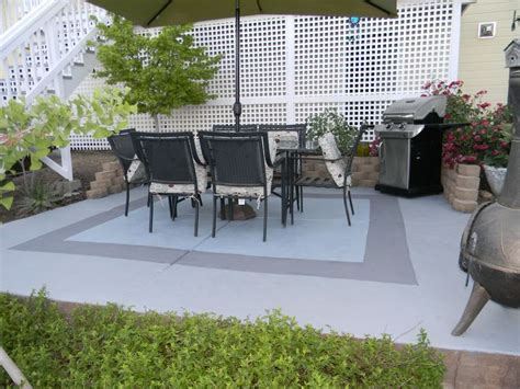painted concrete patio my garden paint