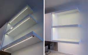 Kitchen shelf led lighting inspired led contemporary kitchen