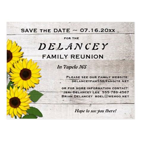 family reunion save the date cards templates rustic save the date family reunion postcard zazzle