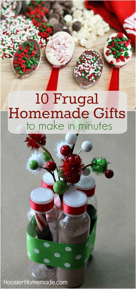 10 easy christmas gifts to make frugal gift ideas hoosier