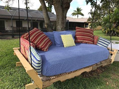 pallet swing bed modified idea   pinterest