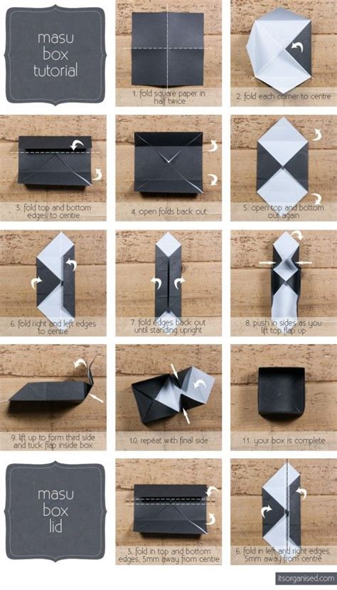 How To Make Paper Bags Step By Step - 134 best origami box images on crafts cards